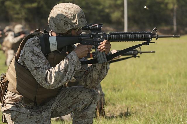 海兵隊兵士の訓練