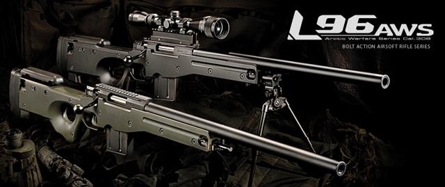 L96 AWS ブラックストック - ボルトアクションエアーライフル | 東京マルイ