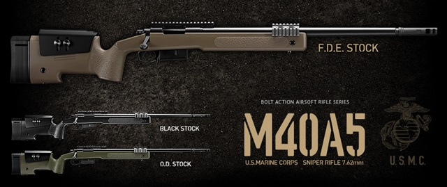 M40A5 ブラックストック - ボルトアクションエアーライフル | 東京マルイ