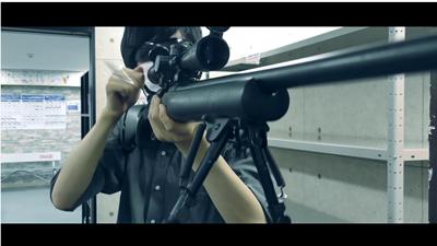 薬莢排出中のタナカワークス製M24SWS対人狙撃銃