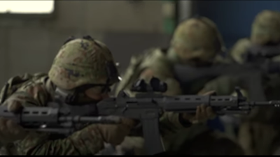 89式小銃を使ったCQB訓練