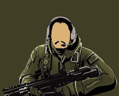 ヘッドセットを着けた兵士