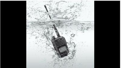 無線機水没テスト
