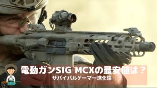 電動ガンSIG MCXの最安値は? (1)